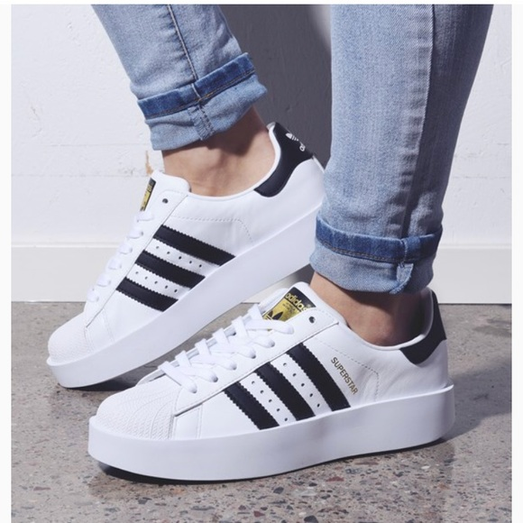 NWT Adidas Superstar Bold Platform Shoes NWT